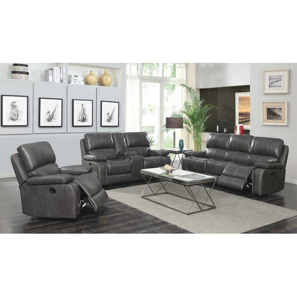#1 Neace 3 Piece Reclining Living Room Set By Red Barrel Studio Cool