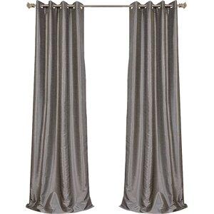 Gediminas Vintage Solid Blackout Thermal Grommet Single Curtain Panel