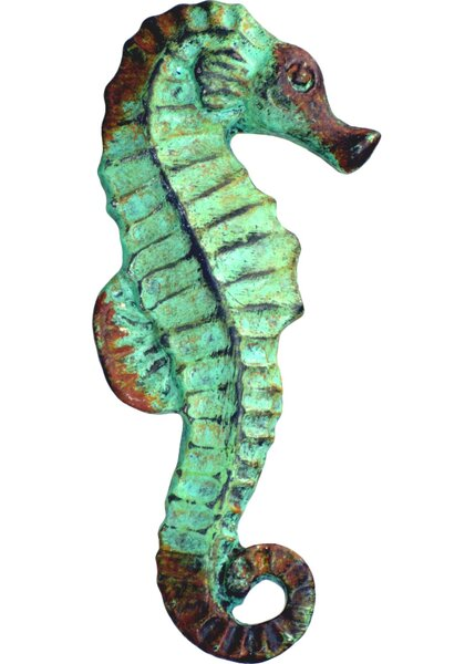 Seahorse Pewter Novelty Knob (Set of 4) by Charleston Knob Company