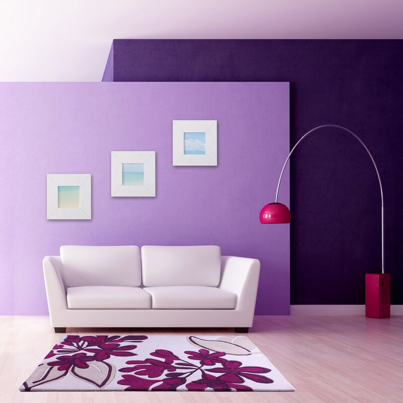 ultimate rug co handgewebter teppich floral realm in wei. Black Bedroom Furniture Sets. Home Design Ideas