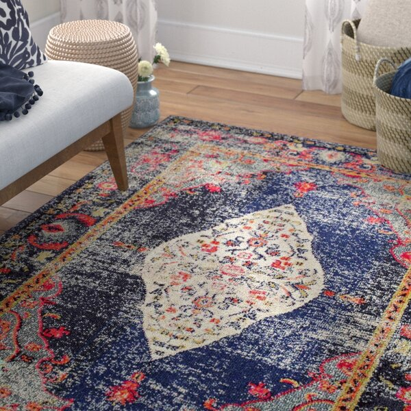 Paradiso Navy Area Rug by Mistana