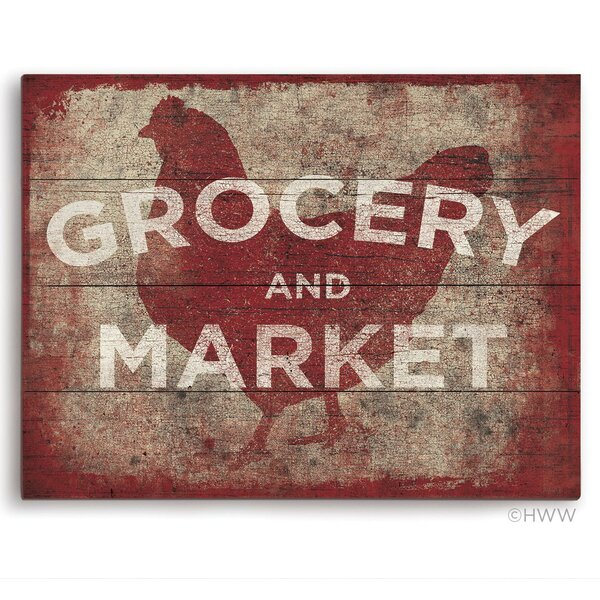 Chicken Grocery and Market Textual Art by Click Wall Art