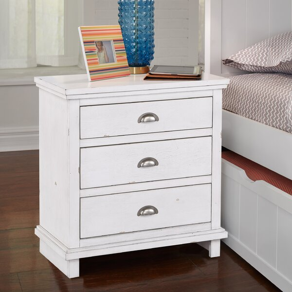 Lusia 3 Drawer Nightstand by Rosalind Wheeler