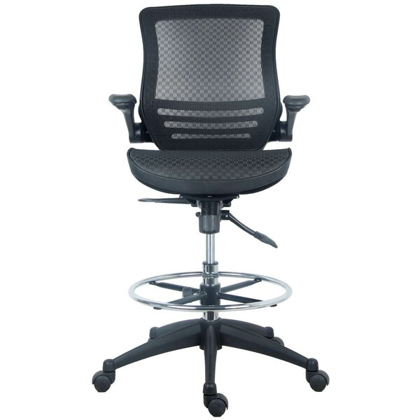 Clementina Mid-Back Mesh Drafting Chair by Latitude Run