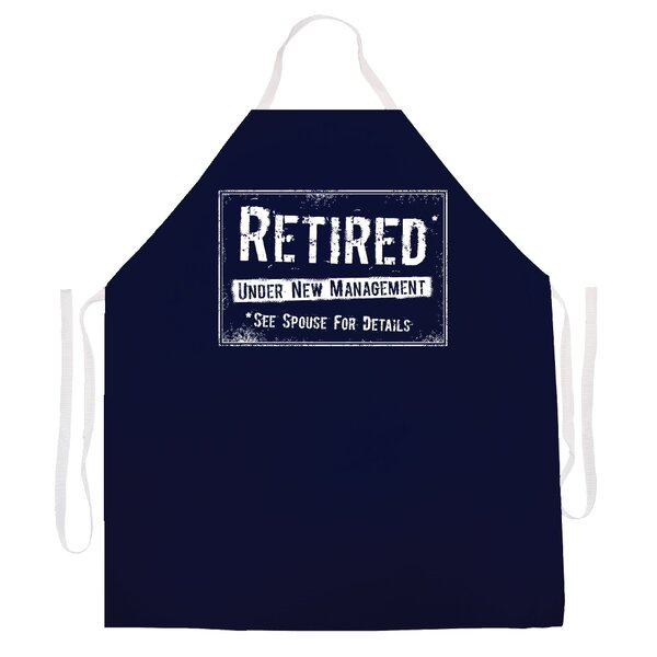 Retired New Mangement Apron by Attitude Aprons by L.A. Imprints
