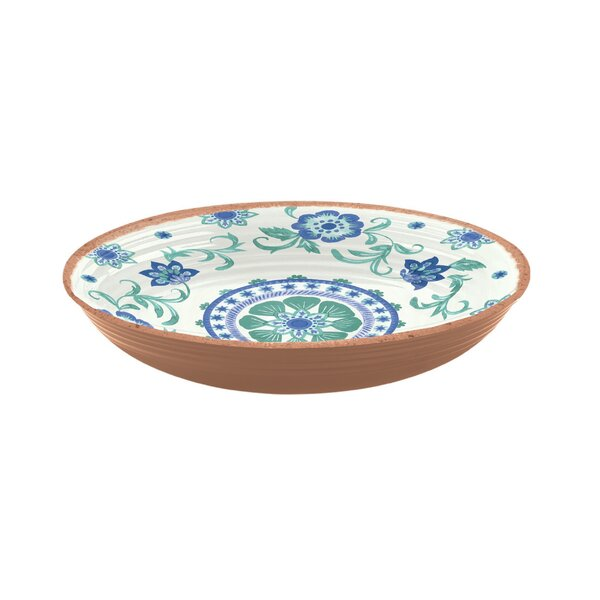 Lizabeta 43.3 oz. Floral Pasta Bowl (Set of 6) by Bungalow Rose