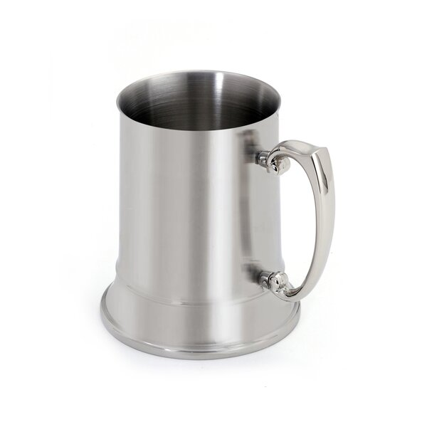 Beer Stein Glass 18 oz. Stainless Steel by Cuisinox