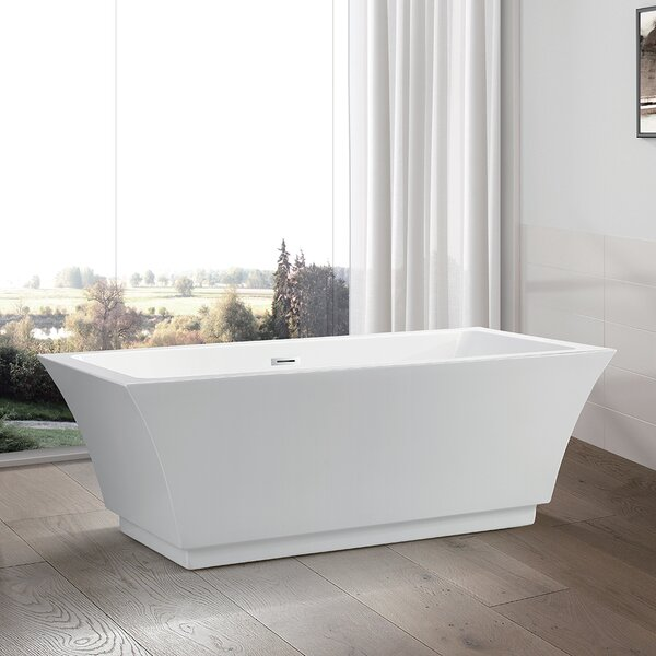 66.5 x 31.5 Freestanding Soaking Bathtub by Vanity