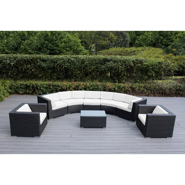 Popham 8 Piece Sunbrella Sectional Seating Gr with Cushions by Brayden Studio