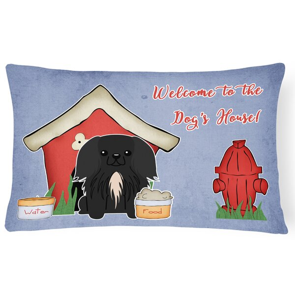 Black Dog House Indoor/Outdoor Lumbar Pillow by East Urban Home