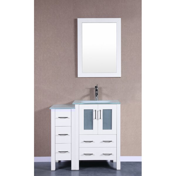 Danville 36 Single Bathroom Vanity Set with Mirror by BosconiDanville 36 Single Bathroom Vanity Set with Mirror by Bosconi