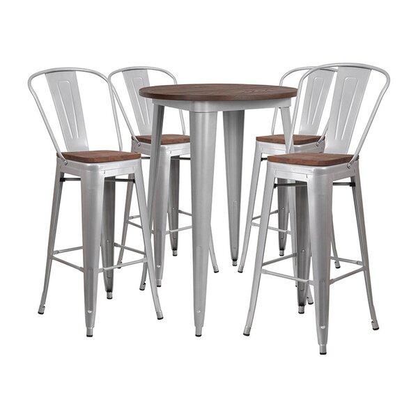 Muirhead Round 5 Piece Pub Table Set by Williston Forge Williston Forge