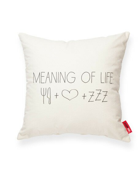 Expressive Meaning of Life Cotton Throw Pillow by Posh365