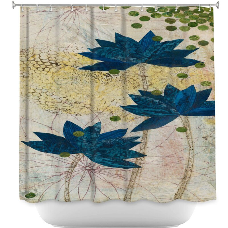 DiaNocheDesigns Lotus Shower Curtain