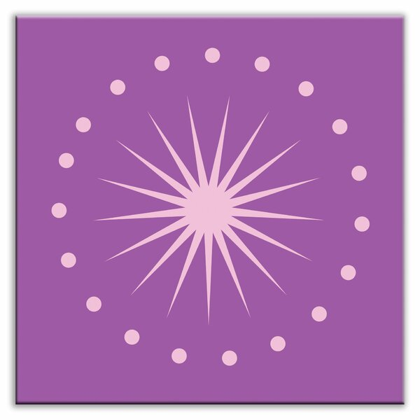 Folksy Love 4-1/4 x 4-1/4 Glossy Decorative Tile in June Light Purple by Oscar & Izzy