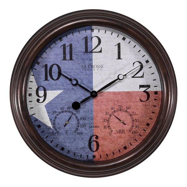 Zaria Texas Flag 15 Wall Clock by August Grove