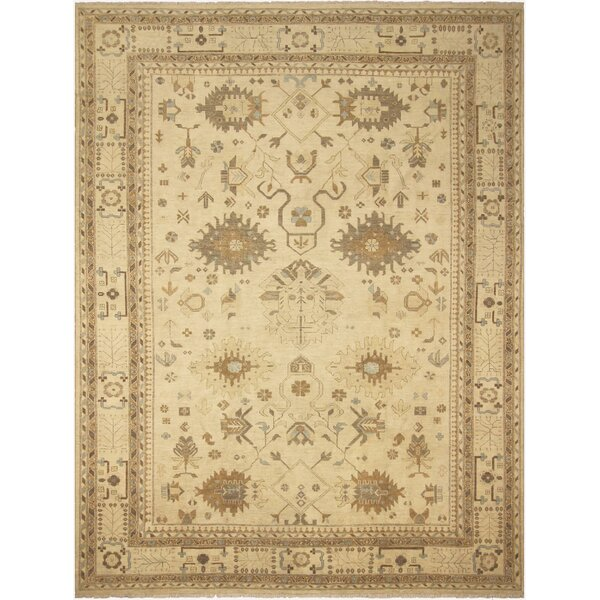 One-of-a-Kind Bodrum Hand-Knotted Wool Ivory Area Rug by Canora Grey