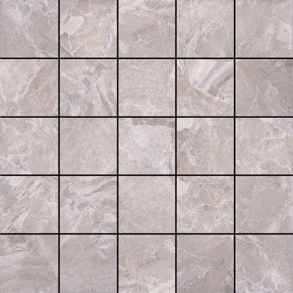 Canyon 13 x 13 Porcelain Mosaic Tile in Grey by Tesoro