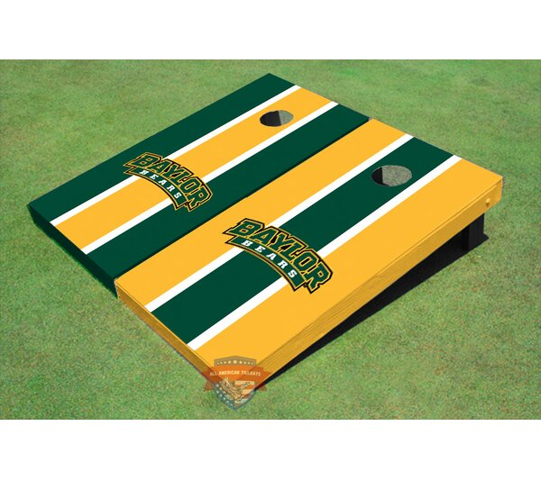 NCAA Alternating Long Stripe Cornhole Board (Set of 2) by All American Tailgate
