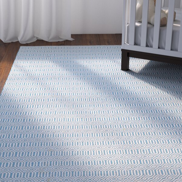 Alonso Hand-Woven Gray/Blue Indoor/Outdoor Area Rug by Viv + Rae