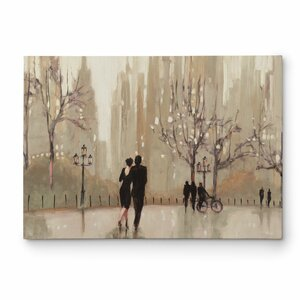 'An Evening out Neutral' by Julia Purinton Painting Print on Wrapped Canvas by Wexford Home
