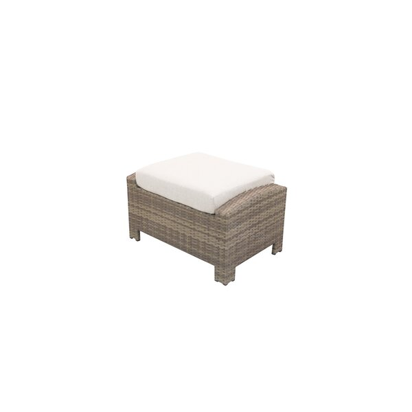 Norfolk Rectangle Outdoor Ottoman with Sunbrella Cushion by Rosecliff Heights