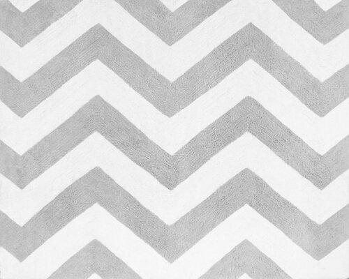 Zig Zag Grey/White Area Rug by Sweet Jojo Designs