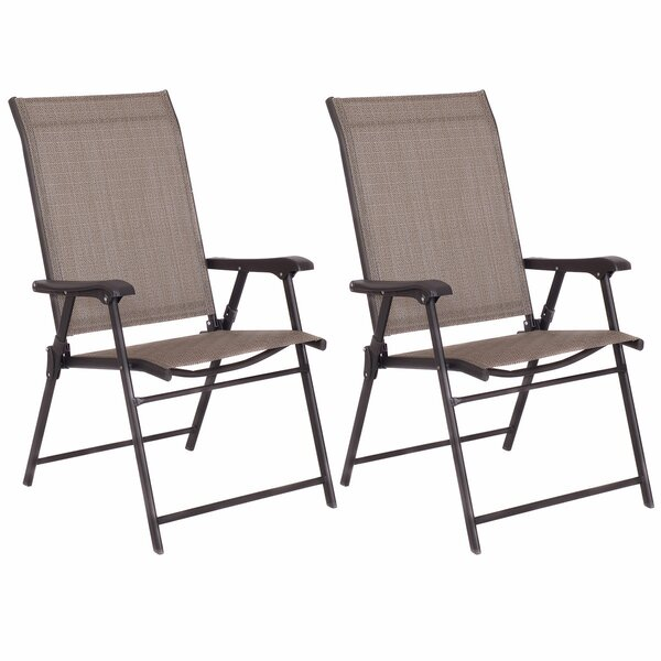Camping Deck Garden Sling Patio Fabric Folding Chair (Set of 2) by Costway