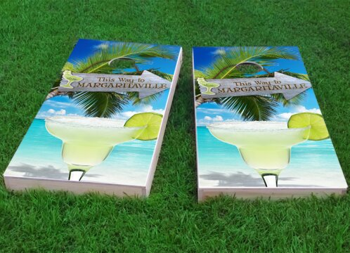 Margaritaville Cornhole Game (Set of 2) by Custom Cornhole Boards