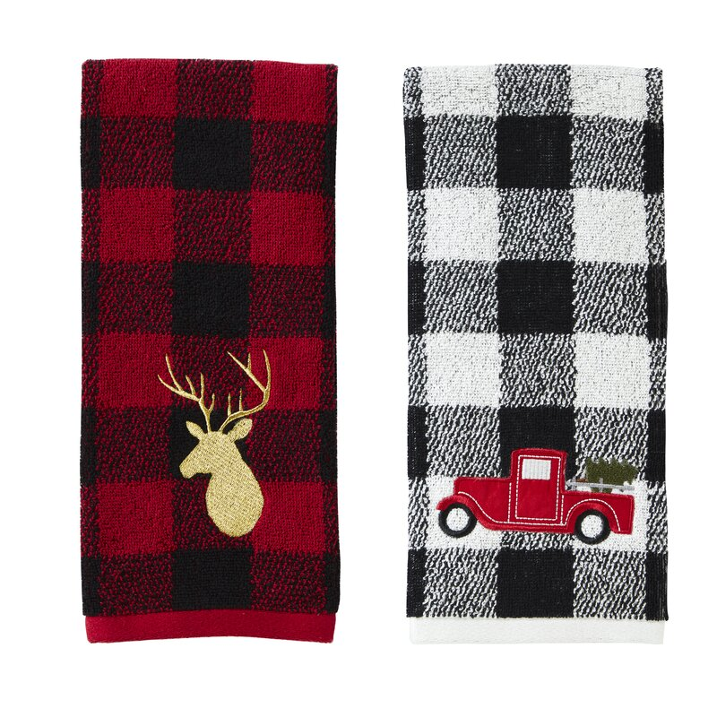 christmas hand towels