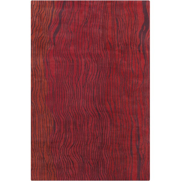Saxon Hand Tufted Wool Red Area Rug by Latitude Run