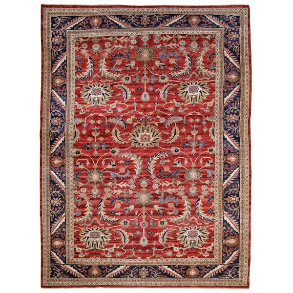 Lea Ushak Hand-Knotted Wool Red Area Rug