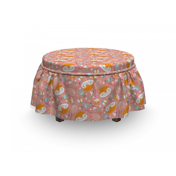 Birthday Party Ottoman Slipcover (Set Of 2) By East Urban Home