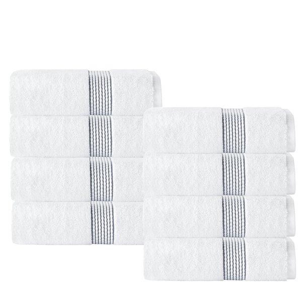 Elegante Turkish Cotton Washcloth (Set of 8) by Enchante Home
