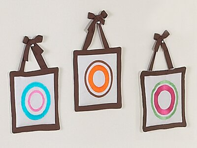 Deco Dot Wall Hanging Set (Set of 3) by Sweet Jojo Designs
