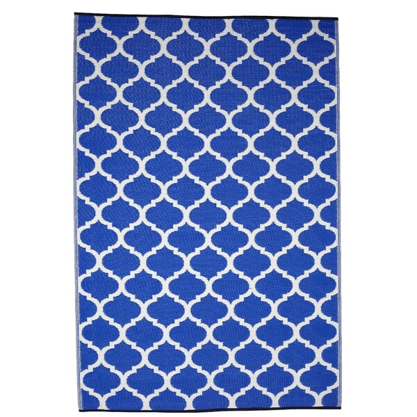 Leela Geometric Blue Indoor / Outdoor Area Rug