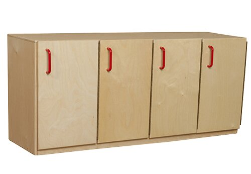 1 Tier 4 Wide Preschool Locker by Wood Designs