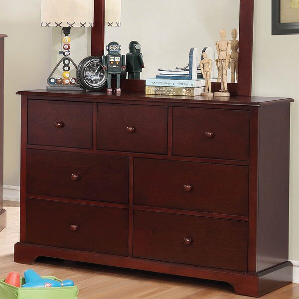 Dellbrook 7 Drawer Dresser with Mirror by Darby Home Co