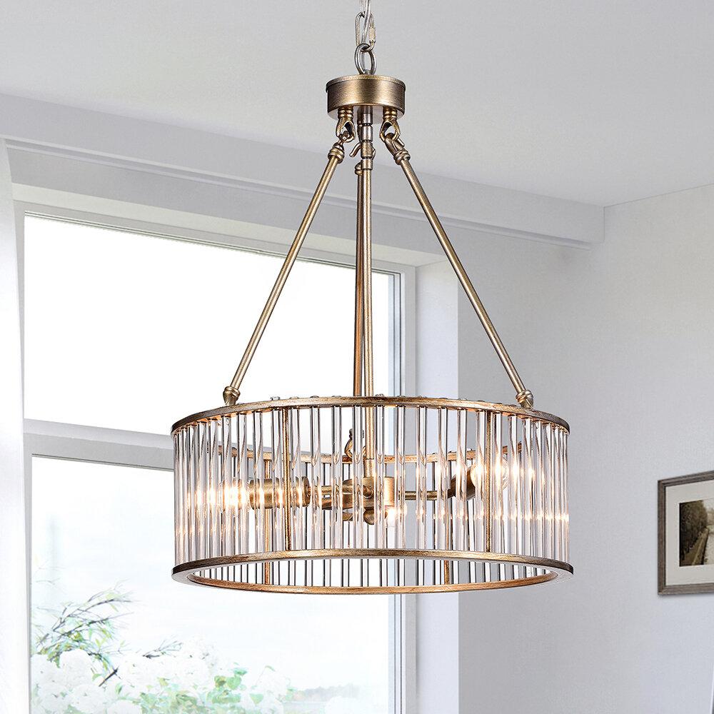 House Of Hampton Adelheide 3 Light Drum Chandelier Reviews Wayfair Ca