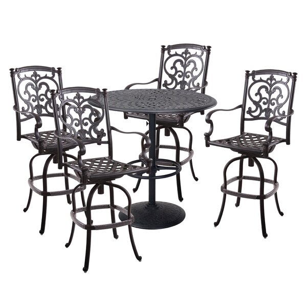 Palazzo Sasso 5 Piece Bar Height Dining Set with Cushions by Astoria Grand