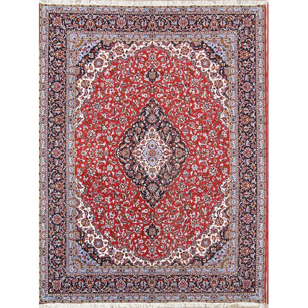 Knollview Traditional Soft Plush Floral Classical Najafabad Persian Red/Blue Area Rug by Isabelline
