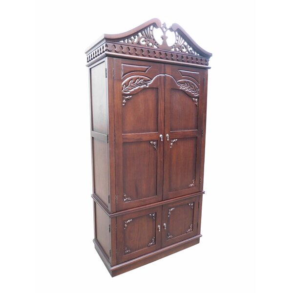 Brianna Carved Top Armoire by Fleur De Lis Living