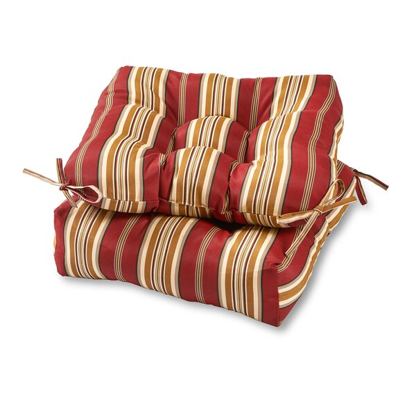 Peery Indoor/Outdoor Dining Chair Cushion (Set of 2) by Bayou Breeze