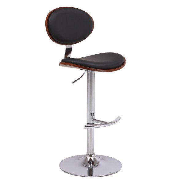 Puentes Adjustable Height Swivel Bar Stool by Orren Ellis