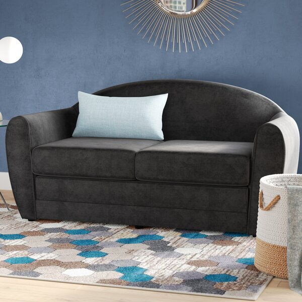 New Trendy Paredes Sleeper Loveseat by Wrought Studio by Wrought Studio