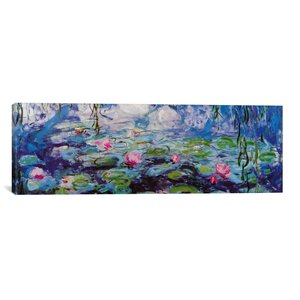 'Nympheas' by Claude Monet Painting Print on Canvas by Ophelia & Co.