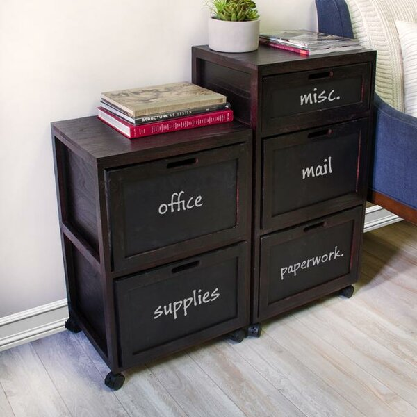 Burholme Crated 3 Drawer Mobile Vertical Filing Cabinet by Rebrilliant