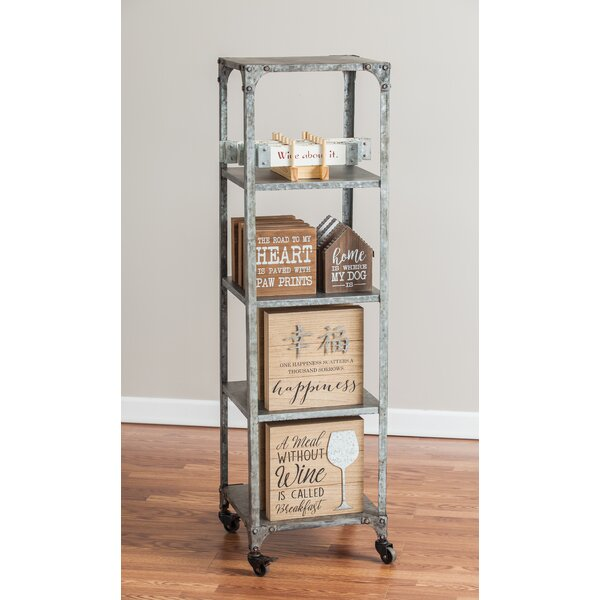 Malarie 4 Shelf Metal Etagere by 17 Stories