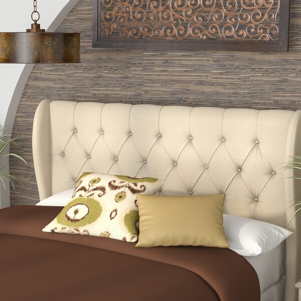 Yasser Upholstered Wingback Headboard by World Menagerie
