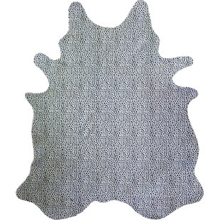 Compare & Buy Stenciled Brazilian Cowhide Cheetah Black/White Area Rug ByChesterfield Leather